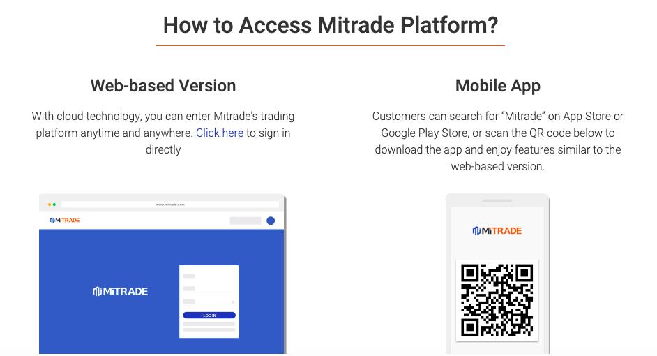MiTrade trading platforms