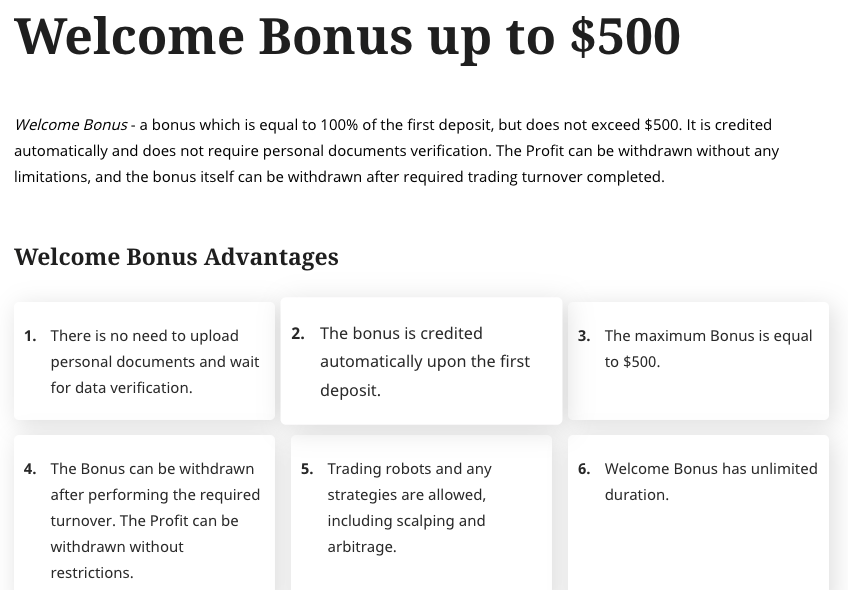 ForexChief promotions