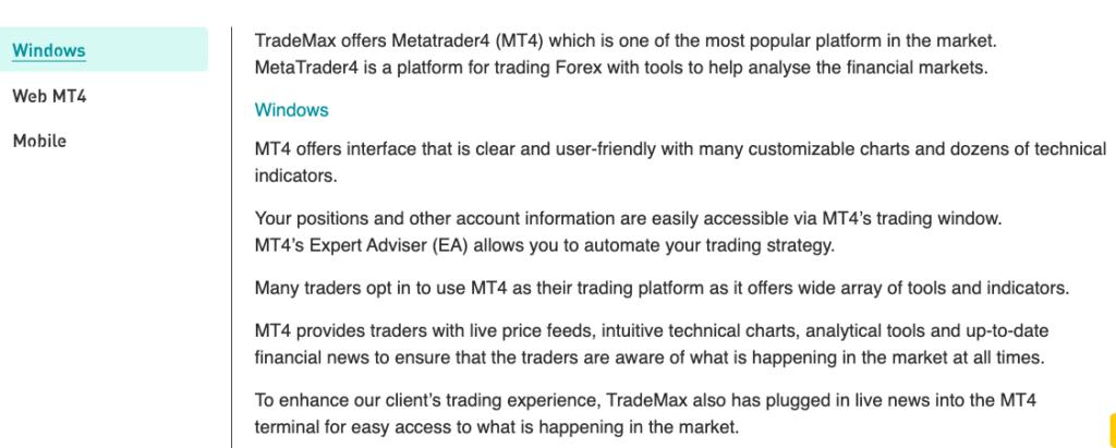 Forex trading platforms TradeMax