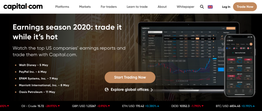 Forex trading at Capital.com