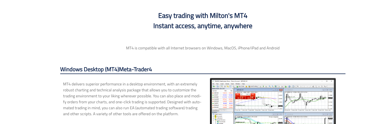 Milton Prime trading platforms review