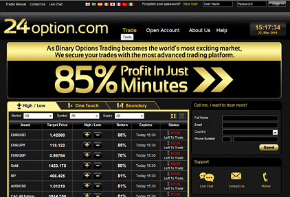 24option platform binary options now 24Option.com Offers 6 Different Types of Binary Options