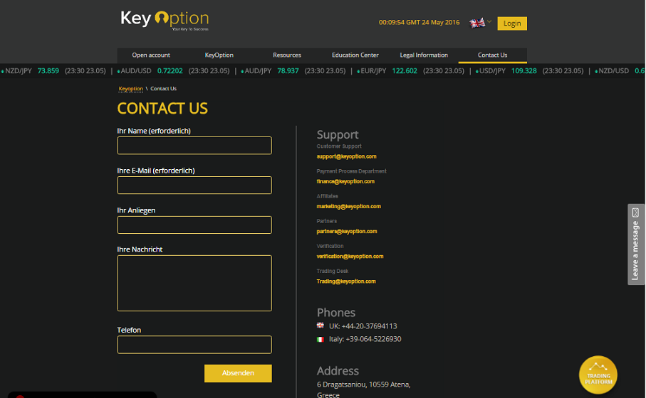 KeyOption Customer Support