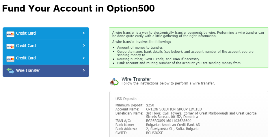 option500 account application
