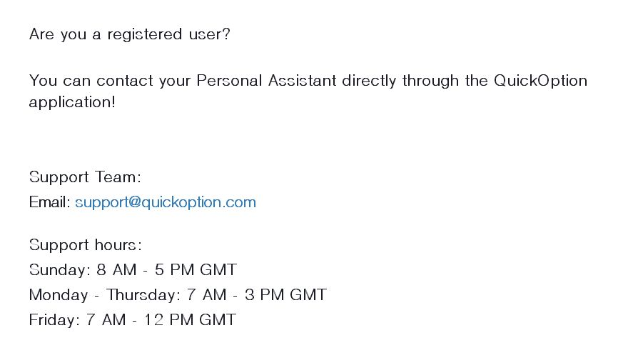 quickoption customer support