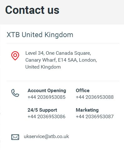 xtb customer support review
